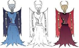 Зло набора притяжки руки lich цвета чудовища doodle мультфильма страшное иллюстрация штока