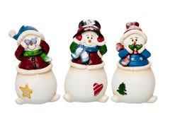 зло слышит никак для того чтобы увидеть, что снеговик поговорил Стоковые Изображения RF