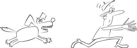 зло собаки Стоковая Фотография RF