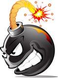 зло шаржа бомбы Стоковые Изображения RF