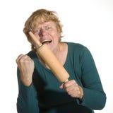 злющая женщина стоковая фотография rf