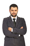 Злющий бизнесмен Стоковое фото RF