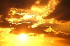 злющий заход солнца Стоковое фото RF