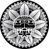 Змейка вектора божества змейки Майя Plumed иллюстрацией Стоковые Изображения