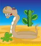 Змейка в пустыне иллюстрация штока