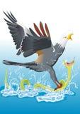 Змейка звероловства орла Стоковая Фотография