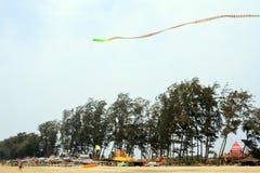 Змейка змея летая над голубым небом Стоковые Фото