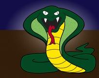змейка иллюстрации кобры шаржа Стоковые Изображения RF