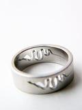 змейка кольца серебряная Стоковая Фотография