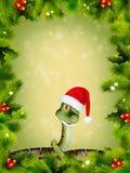 Змейка Новый Год иллюстрация вектора