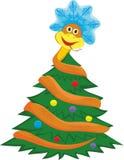 Змейка переплетает fir-tree иллюстрация штока