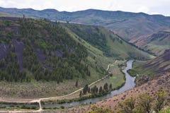 змейка реки Айдахо каньона Стоковое Изображение
