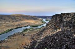 змейка реки Айдахо каньона Стоковые Фотографии RF