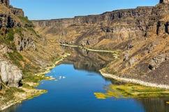змейка реки каньона Стоковые Изображения