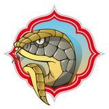 Змейка, символ предстоящего года Стоковое Фото