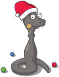 Змейка съела шампанское Стоковая Фотография