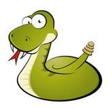 змейка трещотки шаржа Стоковое Изображение