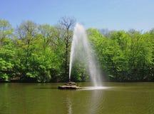 Змейка фонтана Мощный поток воды разрывает из рта ` s змейки Стоковое Фото