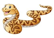 змейка шаржа милая иллюстрация вектора