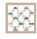 Змейки и лестницы свойства иллюстрация вектора