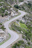 Змейчатая дорога горы Стоковое Фото