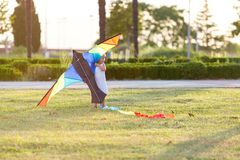 змей девушки летания немногая Стоковое Фото