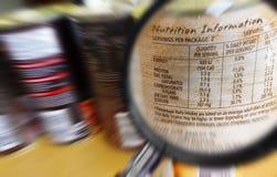 Знайте чего вы едите принципиальную схему Стоковая Фотография RF