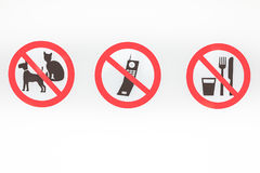3 знака запрета Стоковое фото RF