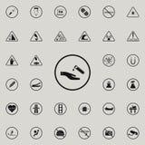 знака значок химических элементов опасно Комплект значков предупредительных знаков всеобщий для сети и черни бесплатная иллюстрация