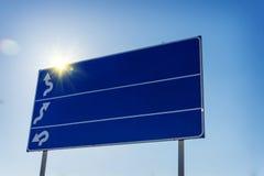 3 знака на плите над дорогой Стоковая Фотография RF