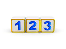 1 2 3 знака Стоковые Фотографии RF