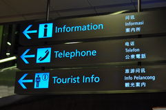 знаки авиапорта Стоковое фото RF