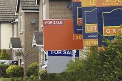 Знаки агента по продаже недвижимости Стоковое Изображение