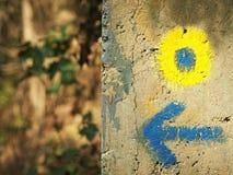 Знаки бега по пересеченной местностей Стоковое Изображение