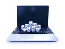 Знаки внимания на клавиатуре тетради Стоковые Фотографии RF