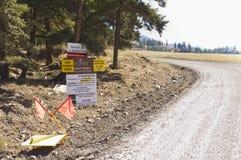 Знаки входа дороги для лесозаготовок Стоковые Фото