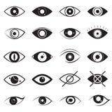 Знаки глаза чернят тонкую линию набор значка r иллюстрация штока