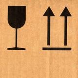 знаки гофрированные картоном Стоковые Изображения