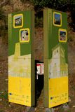 Знаки для входа испанских деревень стоковое изображение