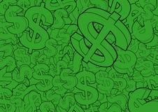 знаки доллара предпосылки Стоковые Изображения RF