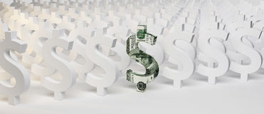 знаки доллара 3d стоковые фото