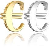 знаки евро Стоковое Изображение