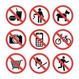 Знаки запрета установили иллюстрацию вектора информации о безопасности бесплатная иллюстрация