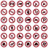 Знаки запрета иллюстрация штока