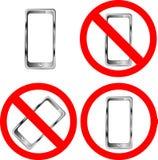 знаки запрещения мобильного телефона Стоковое Изображение RF