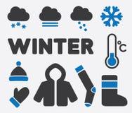 Знаки зимы Стоковое Изображение