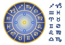 Знаки зодиака, комплект значка вектора Стоковые Фотографии RF
