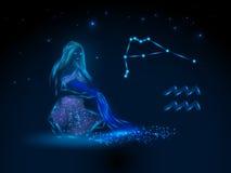 Знаки зодиака космофизики Стоковое фото RF