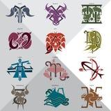 Знаки зодиака 12 Стоковые Фото