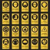 Знаки здоровья и безопасности Оборудование необходимо нести иллюстрация вектора